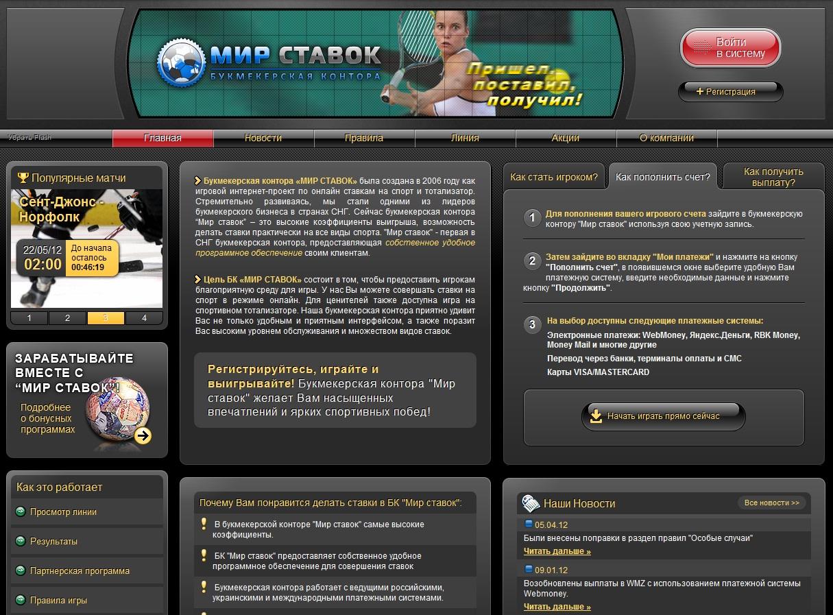 Делаем ставки на футбол и спорт через интернет